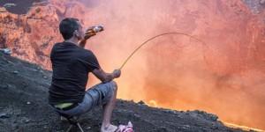 新西兰大神火山口的悠闲时间